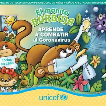 EL MONITO BURBUJA APRENDE A COMBATIR AL CORONAVIRUS
